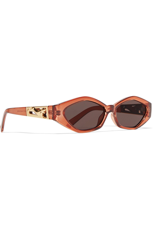 Le Specs + Jordan Askill Petit Panthère cat-eye acetate and gold-tone sunglasses