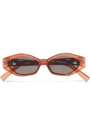 + Jordan Askill Petit Panthère cat-eye acetate and gold-tone sunglasses