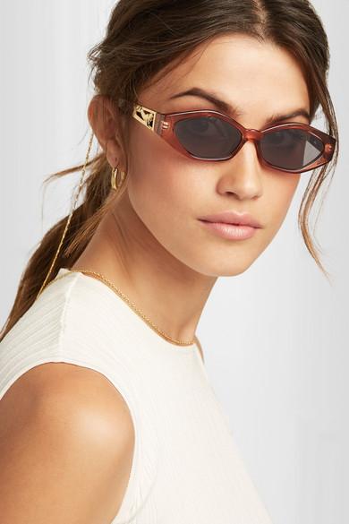 + Jordan Askill Petit Panthère Cat Eye Acetate Sunglasses by Le Specs