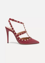 Valentino Valentino Garavani The Rockstud textured-leather pumps