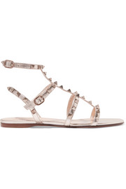 Valentino Valentino Garavani The Rockstud metallic leather sandals
