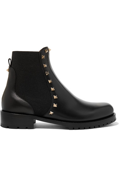 2bc9729aeaa4f Valentino   Valentino Garavani The Rockstud leather Chelsea boots    NET-A-PORTER.COM