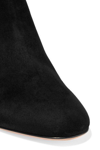 Valentino   aus Valentino Garavani Overknees aus   Stretch-Veloursleder mit Nieten fd0c2e