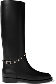Valentino Valentino Garavani studded leather knee boots
