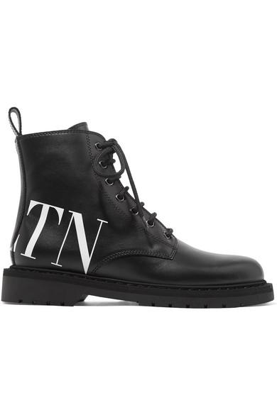 Valentino   aus Valentino Garavani Ankle Boots aus   Leder mit Logoprint b0841e