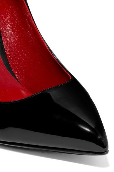 Valentino | Valentino Garavani Pumps Logoprint aus Lackleder mit Logoprint Pumps 3a8ce9