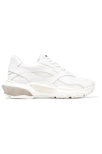 Valentino Garavani Bounce Leather And Mesh Sneakers by Valentino