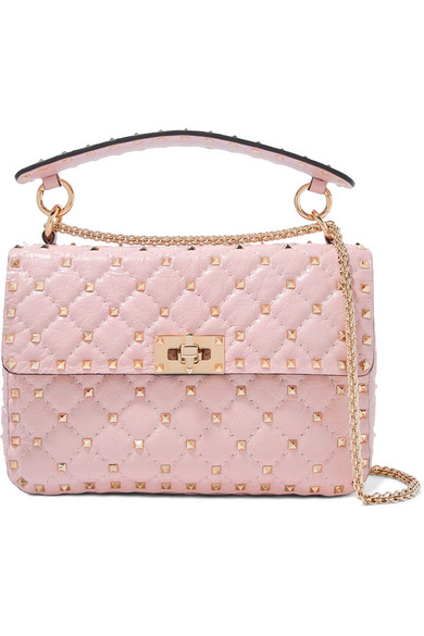 b237569f34 Valentino. Valentino Garavani The Rockstud Spike medium quilted  textured-leather shoulder bag