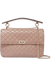 Valentino Valentino Garavani The Rockstud Spike large quilted leather shoulder bag