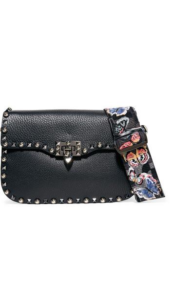 Valentino Garavani The Rockstud Rolling textured-leather shoulder bag
