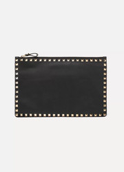 Valentino Valentino Garavani The Rockstud textured-leather pouch