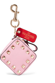 Valentino Garavani The Rockstud textured-leather bag charm