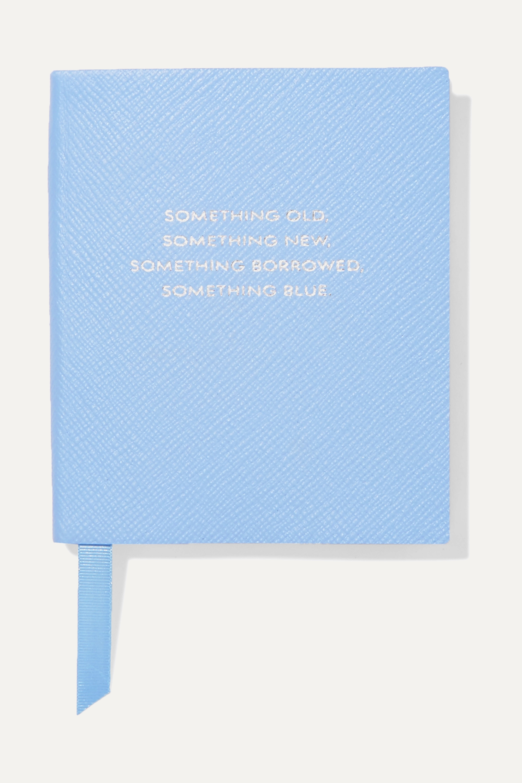 Smythson Carnet en cuir texturé Panama Something Old, Something New, Something Borrowed, Something Blue