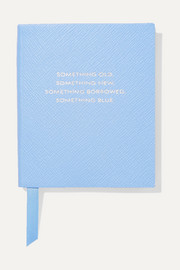 Smythson Panama Something Old, Something New, Something Borrowed, Something Blue Notizbuch aus strukturiertem Leder