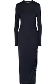 Ninety Percent Ruched jersey maxi dress