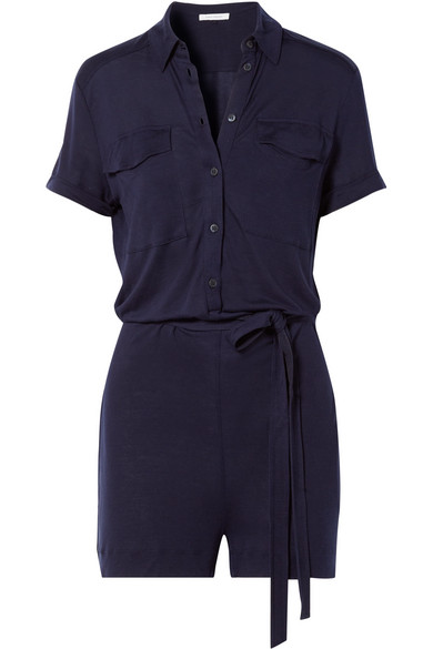 Ninety Percent - Tencel Playsuit - Midnight blue
