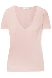 Ninety Percent Marisa ribbed organic cotton-jersey T-shirt