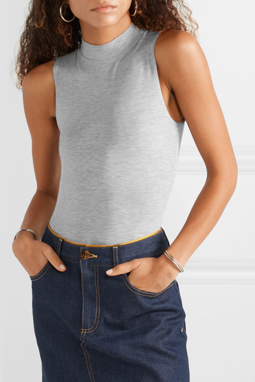 Ninety Percent Rita stretch-Tencel turtleneck bodysuit