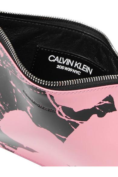 CALVIN KLEIN 205W39NYC - Pochette En Cuir Imprimée Par Andy Warhol Foundation - Rose bpaPY9