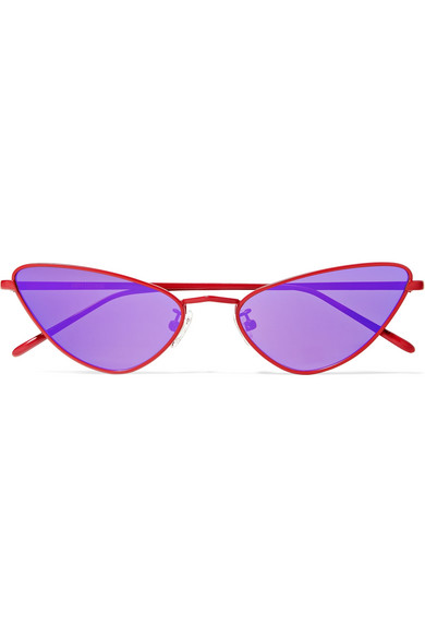 POPPY LISSIMAN Chi Chi Cat-Eye Metal Sunglasses in Purple