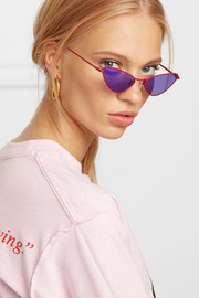 Chi Chi cat-eye metal sunglasses
