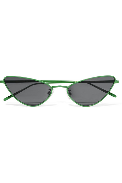 POPPY LISSIMAN Chi Chi Cat-Eye Metal Sunglasses in Green