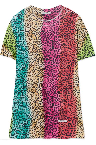 BLOUSE LOVECAT RAINBOW COTTON-JERSEY T-SHIRT