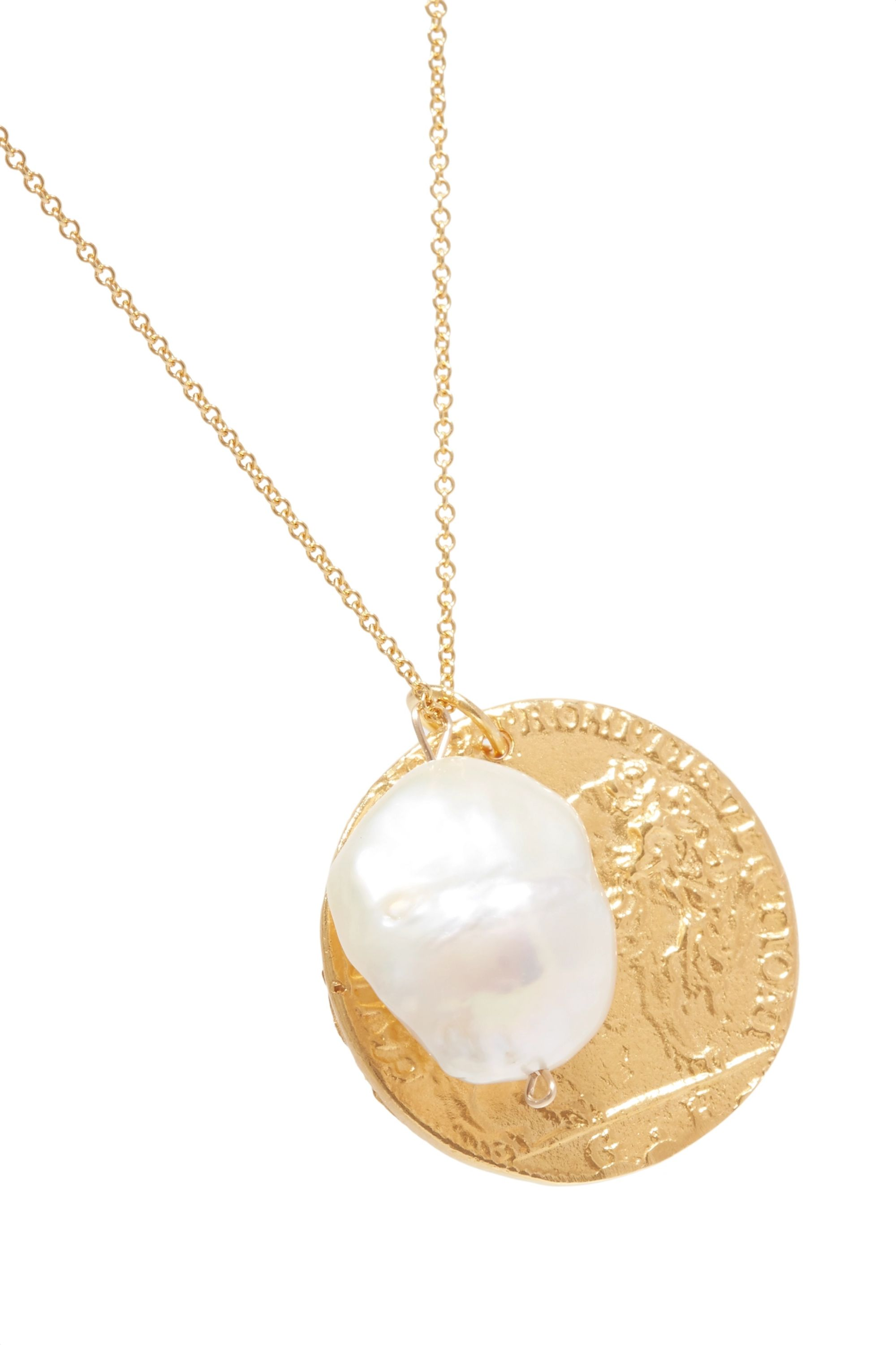 Alighieri The Remedy Chapter ii gold-plated pearl necklace