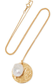The Remedy Chapter ii gold-plated pearl necklace