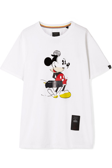 + Disney Oversized Printed Cotton-Jersey T-Shirt in White