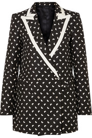 Blazé Milano Everyday faille-trimmed printed silk blazer