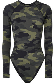 The Upside Paddle camouflage-print swimsuit
