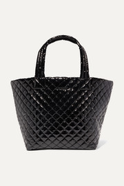 Metro medium quilted vinyl tote