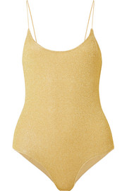 Oséree Lumière stretch-Lurex swimsuit