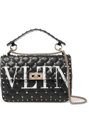 Valentino Valentino Garavani The Rockstud Spike printed quilted leather shoulder bag