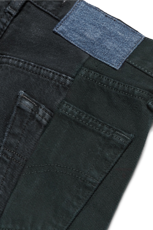 E.L.V. Denim + NET SUSTAIN The Twin two-tone high-rise straight-leg jeans