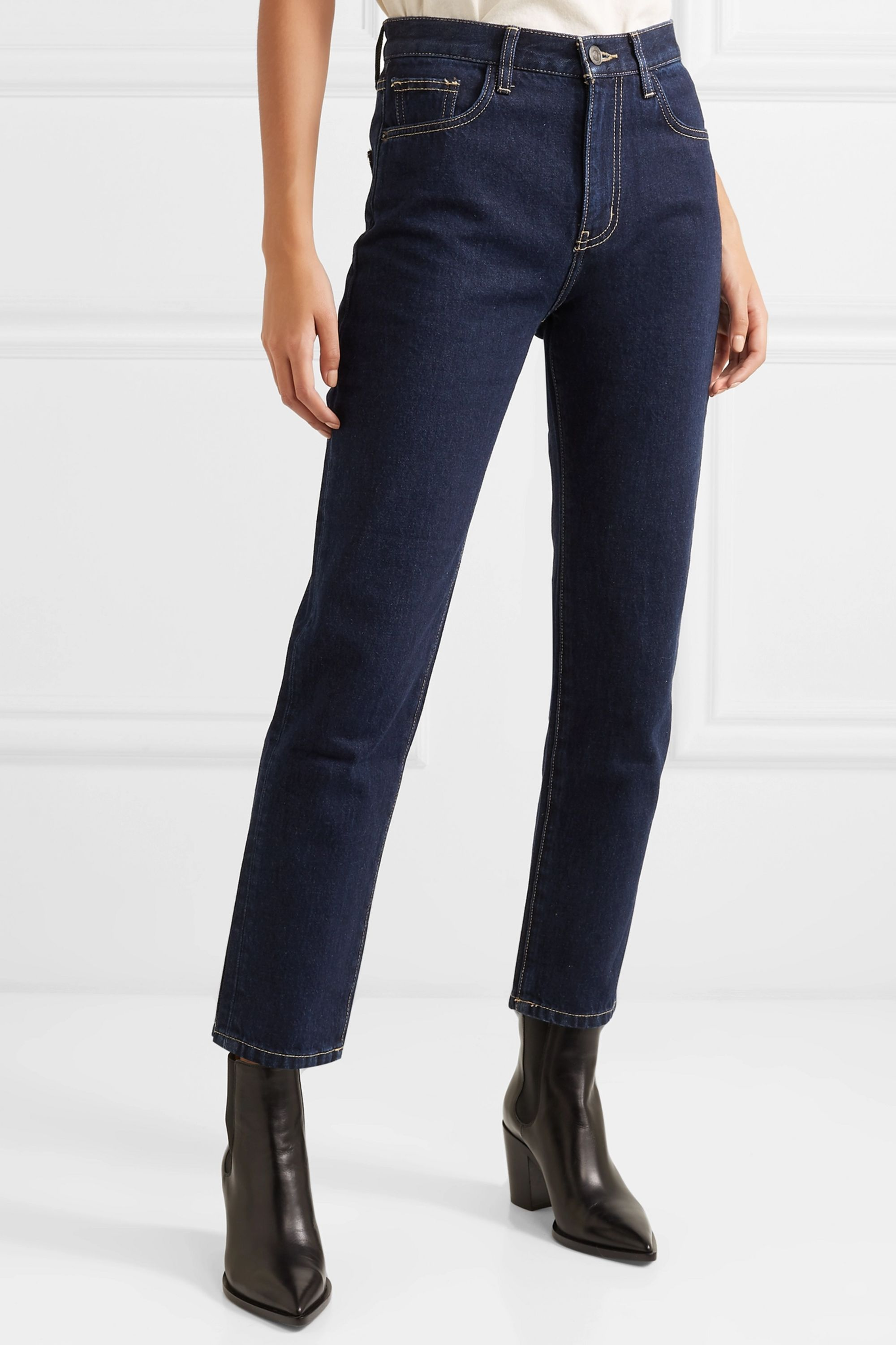 Current/Elliott Jean slim taille haute The Vintage Crop