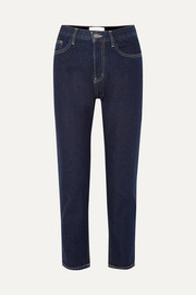 Current/Elliott The Vintage Crop high-rise slim-leg jeans