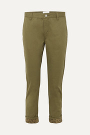 Current/Elliott The Confidant cotton-blend straight-leg pants