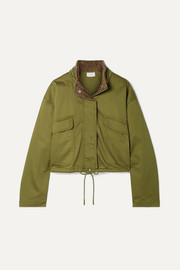 Current/Elliott The Cropped Infantry cropped cotton-blend jacket