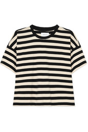 Current/Elliott The Roadie striped cotton-jersey T-shirt