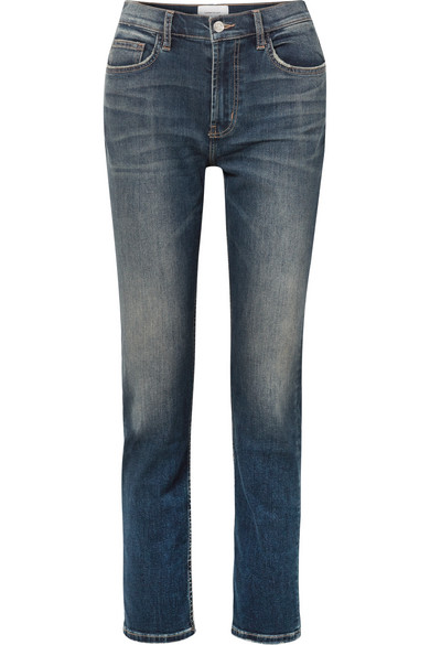 Current Elliott THE STOVEPIPE HIGH-RISE STRAIGHT-LEG JEANS