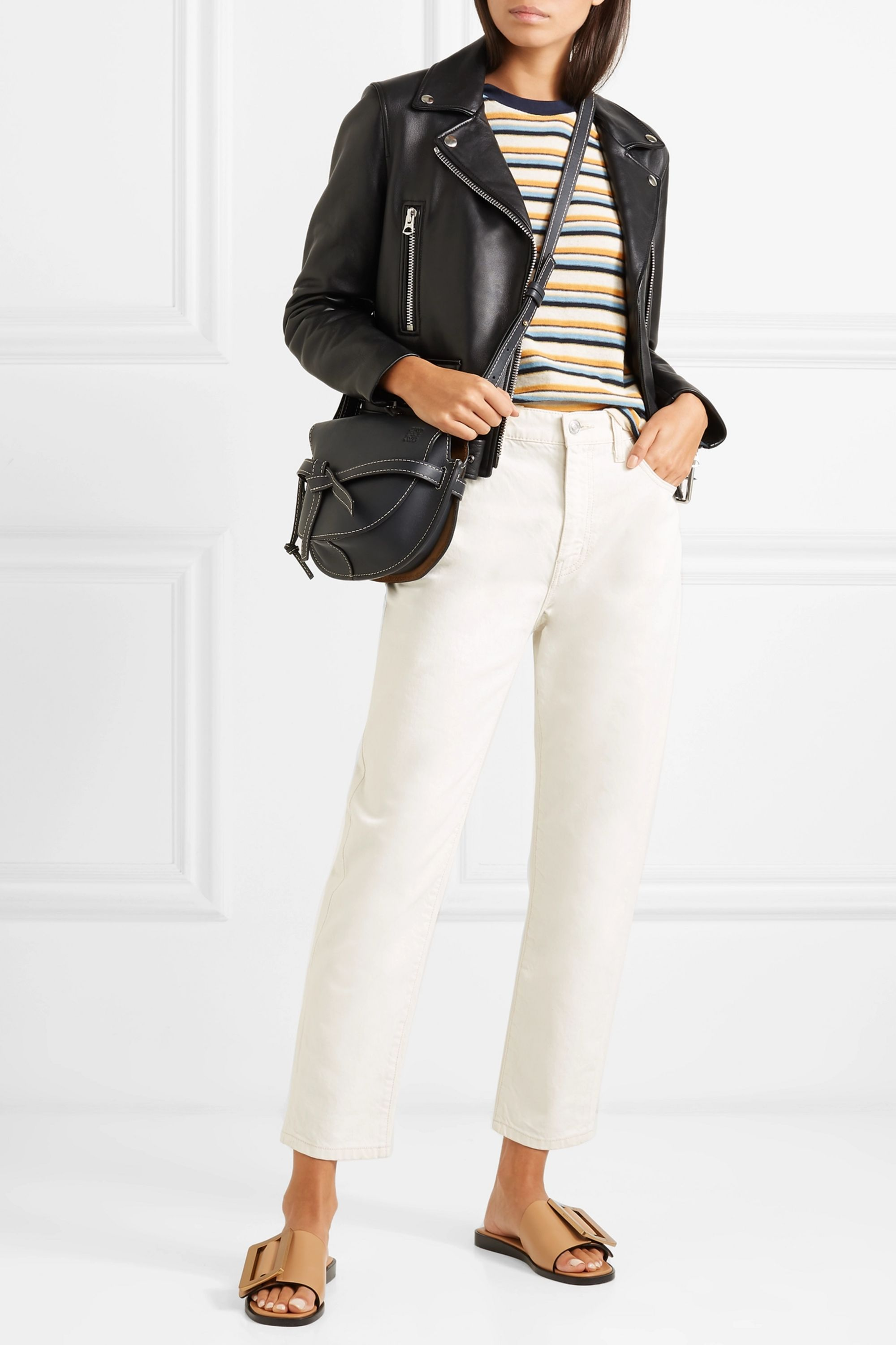Current/Elliott The Vintage cropped high-rise slim-leg jeans