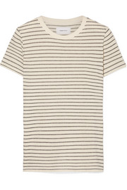 Current/Elliott The Retro striped metallic cotton-blend jersey T-shirt