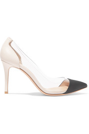 Plexi 85 leather, PVC and grosgrain pumps