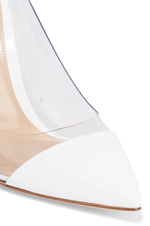Gianvito Rossi Plexi 105 patent-leather and PVC pumps