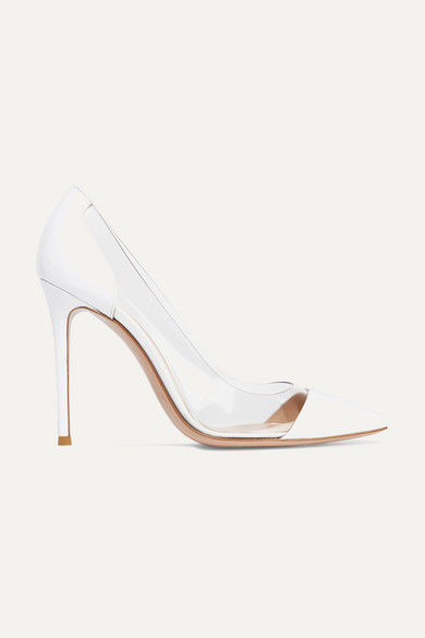 Plexi 105 Patent Leather And Pvc Pumps by Gianvito Rossi