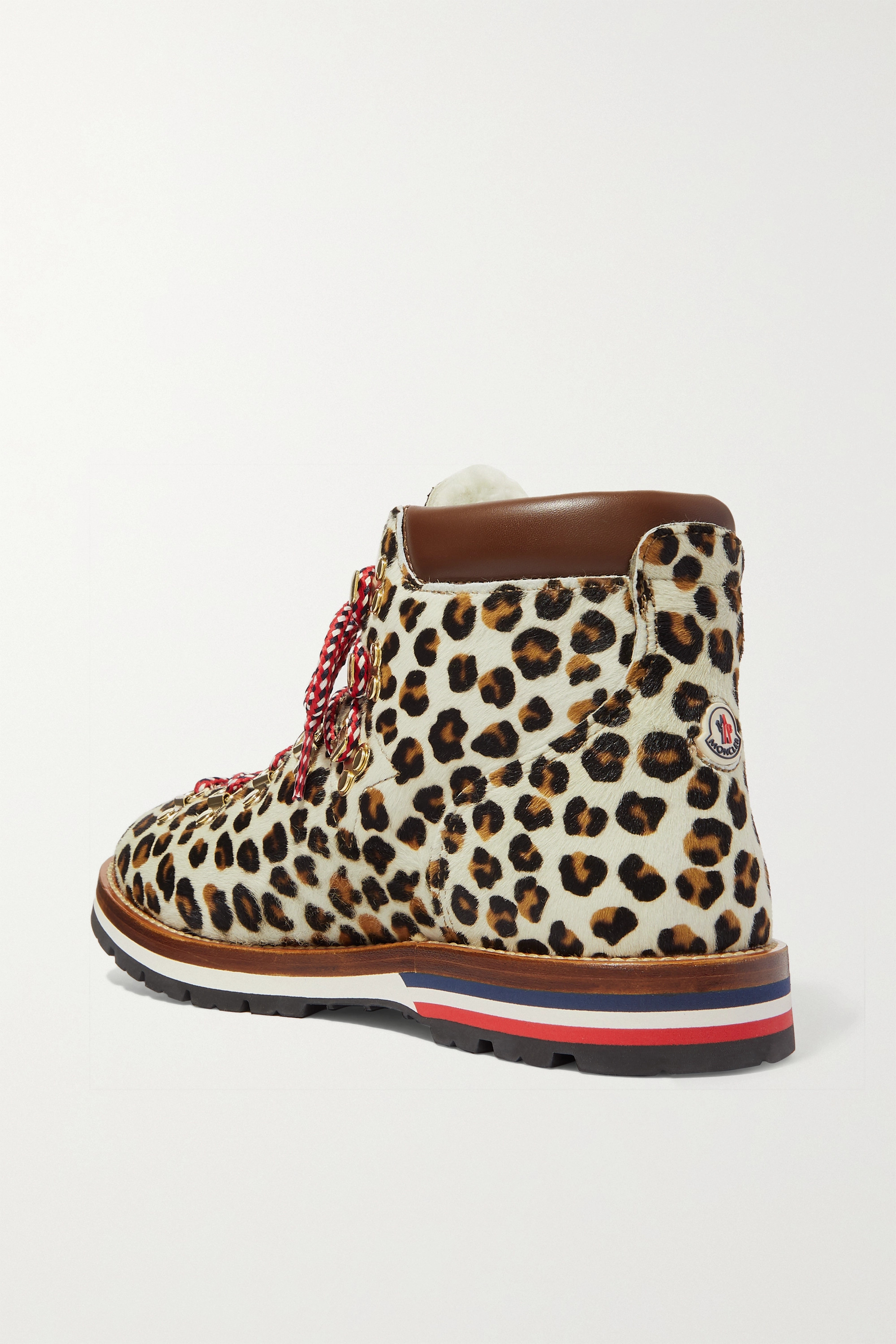 Moncler Blanche shearling-lined calf hair ankle boots