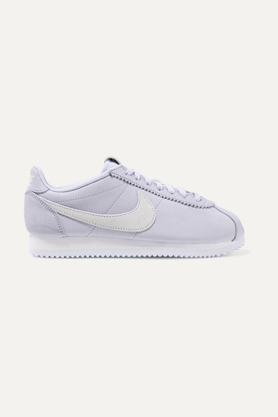 Classic Cortez Leather And Suede Sneakers in Lilac