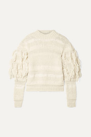 Ulla Johnson Delma fringed alpaca and cotton-blend sweater